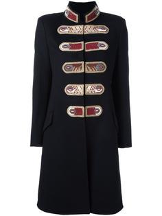 приталенное пальто в стиле милитари Ermanno Scervino