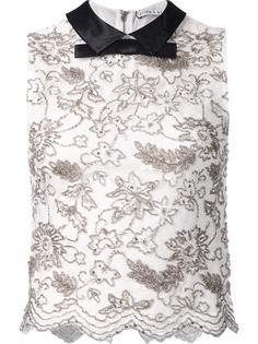 блузка с контрастным воротником Alice+Olivia