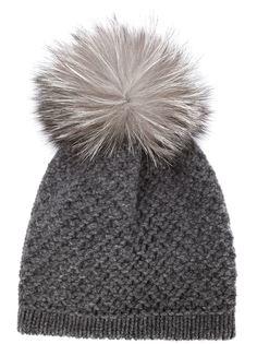 шапка-бини с помпоном  Inverni