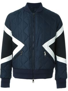 куртка-бомбер с геометрическим узором  Neil Barrett
