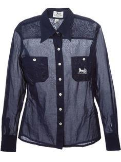 прозрачная рубашка  Céline Vintage