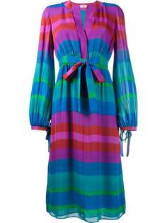 полосатое платье с длинными рукавами Etro