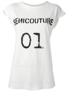 футболка с логотипом 'Semicouture' Erika Cavallini