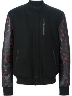 университетская куртка с контрастным рукавами Marcelo Burlon County Of Milan