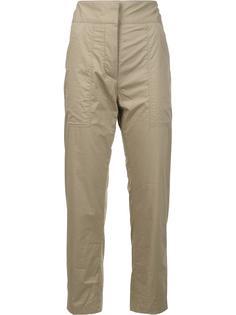 укороченные брюки с накладными карманами Adam Lippes