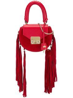 круглая сумка-тоут с бахромой Salar