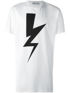 футболка с принтом молнией Neil Barrett
