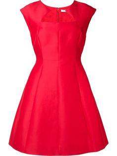 приталенное платье с геометрическим вырезом Halston Heritage