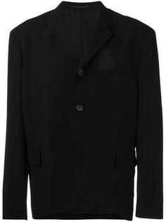 пиджак с треугольными вырезами Yohji Yamamoto Vintage