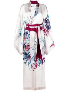 длинное кимоно с цветочным узором Carine Gilson