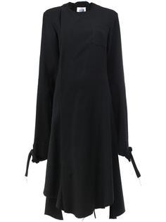 расклешенное платье с длинными рукавами Aganovich