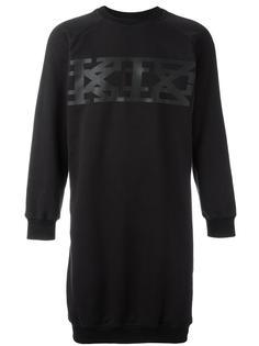 длинная толстовка с крупным логотипом KTZ