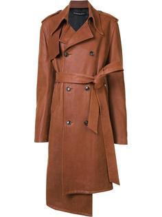 кожаное пальто Y / Project