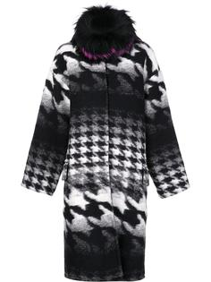 houndstooth pattern mid coat Ava Adore