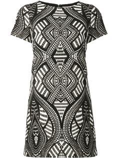 платье мини с геометрическим узором Alice+Olivia