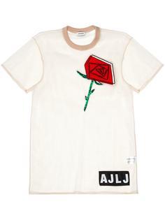прозрачная футболка с вышивкой Au Jour Le Jour