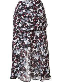 юбка с цветочным принтом Veronica Beard