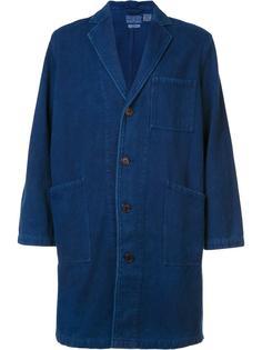 пальто с накладными карманами Blue Blue Japan