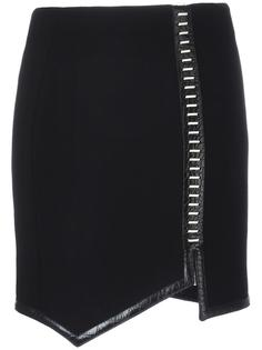 юбка с асимметричным подолом Mugler