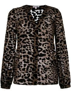 блузка с леопардовым принтом  Borbonese