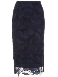 floral netted skirt Grey Jason Wu