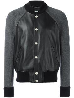 куртка-бомбер с вязаными рукавами Givenchy