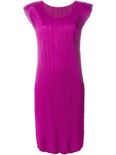 плиссированное платье с короткими рукавами Pleats Please By Issey Miyake