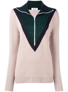 пуловер на молнии дизайна колор-блок Aviù