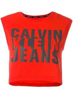 укороченный топ с принтом логотипа Calvin Klein Jeans