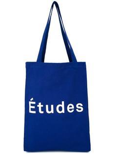 logo print tote Études