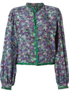 блузка-кимоно в цветочный принт  Emanuel Ungaro Vintage