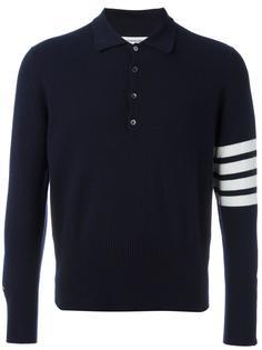 футболка-поло с полосатым принтом Thom Browne