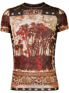 прозрачная футболка с графическим принтом Jean Paul Gaultier Vintage