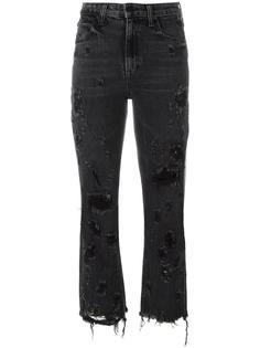 укороченные джинсы с потертой отделкой Alexander Wang