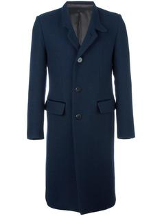 notched lapel mid-length coat Umit Benan