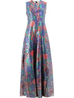 платье без рукавов с абстрактным принтом Maison Rabih Kayrouz