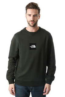 Толстовка свитшот The North Face Fine Crew Rosin Green