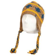 Шапка ушанка The North Face Boulder Peruv Beanie Ut Brown/Tnf Yellow
