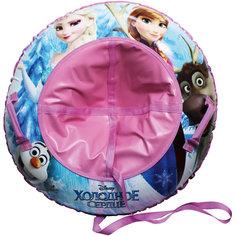 Надувные сани-тюбинг, 100см, с буксировочным троссом, Холодное Сердце Disney