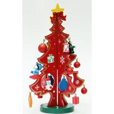 """Новогоднее деревянное украшение """"Новогодняя елка"""" 29x18.5см Феникс Презент"""