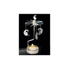 Новогодний декоративный подсвечник из черного окрашенного металла (6,5*16 см) Феникс Презент