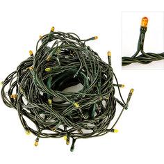 Электрогирлянда 180 миниламп, желтое свечение, зеленый провод, 8 режимов Новогодняя сказка