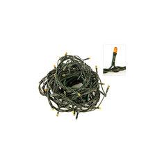 Электрогирлянда 140 миниламп, желтое свечение, зеленый провод, 8 режимов Новогодняя сказка