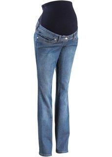 Мода для беременных: джинсы BOOTCUT (темно-синий «потертый») Bonprix