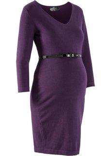 Вязаное платье для беременных (серый меланж) Bonprix