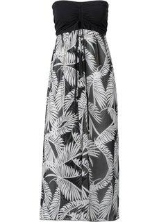Пляжное платье (черный/оливковый с узором зебр) Bonprix