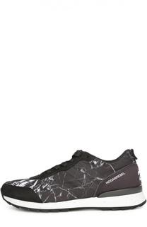 Замшевые кроссовки с принтом Hogan
