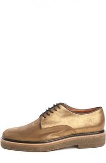 Кожаные ботинки с золотым напылением Dries Van Noten