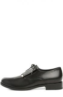 Кожаные ботинки с бахромой Armani Collezioni
