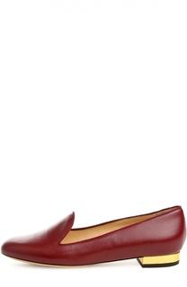 Кожаные лоферы ABC с аксессуаром Charlotte Olympia